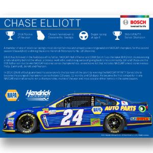 Chase Elliott Hero Card(Back)