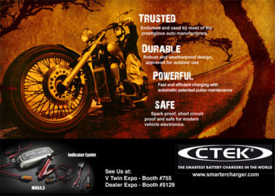 Advertisement with an Adventure Theme for motorcyclists